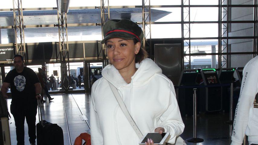 Mel B am Flughafen in Los Angeles