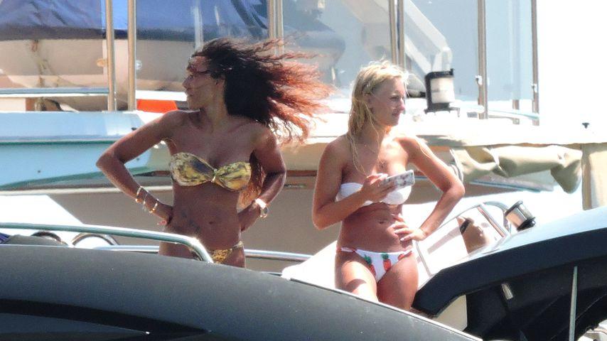 Mel B. und Lorraine Gilles 2016 auf Ibiza