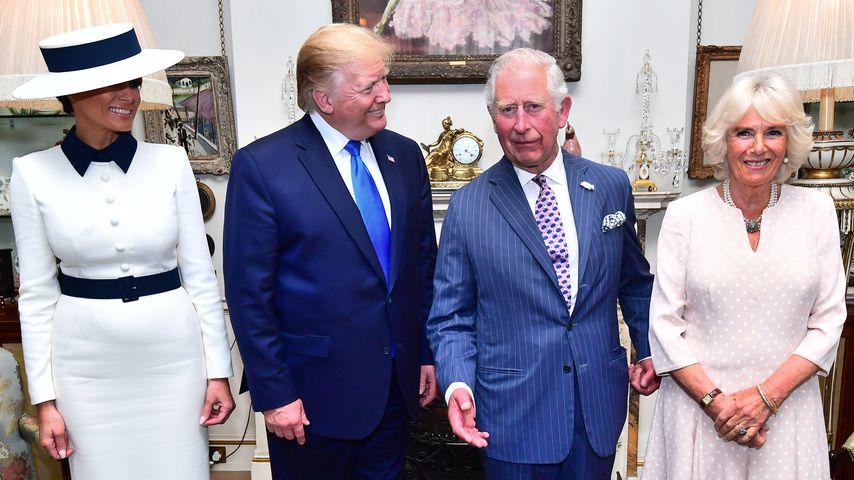 Zwinker-Moment bei Trump-Besuch: Camilla wird zum Netz-Hit!
