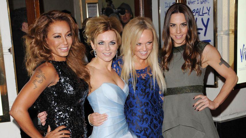 Melanie Brown, Geri Halliwell, Emma Bunton und Melanie Chisholm, Spice Girls-Mitglieder