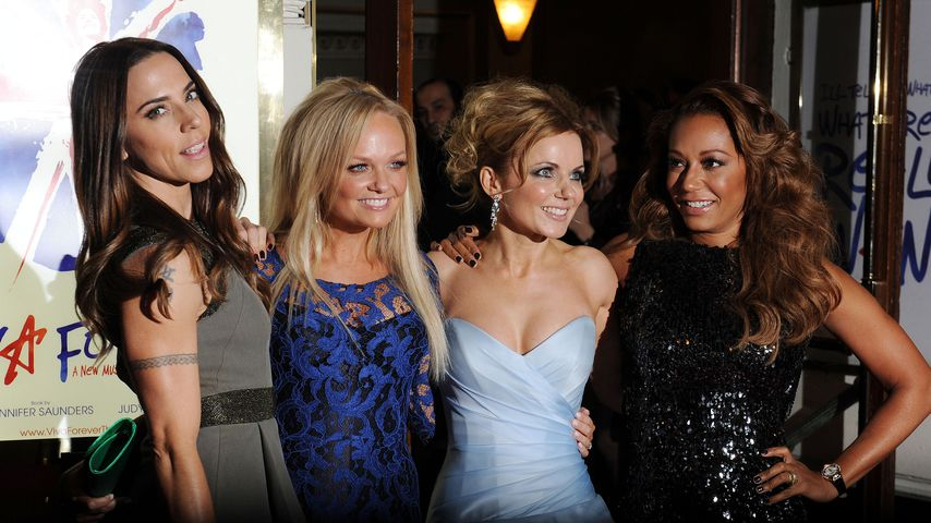 Melanie Chisholm, Emma Bunton, Geri Horner und Melanie Brown, Spice Girls-Mitglieder