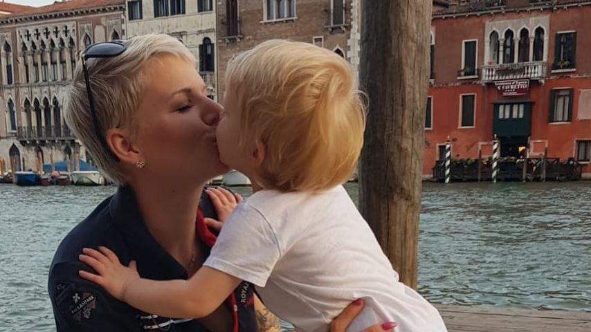 Melanie Müller mit ihrer Tochter Mia Rose in Italien