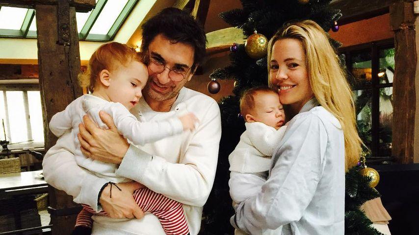 Melissa George mit Freund Jean David Blanc sowie den gemeinsamen Söhnen Solal Samuel Glenn & Raphaël