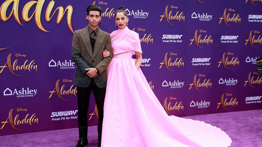 """Mena Massoud und Naomi Scott bei der """"Aladdin""""-Premiere in Hollywood im Mai 2019"""