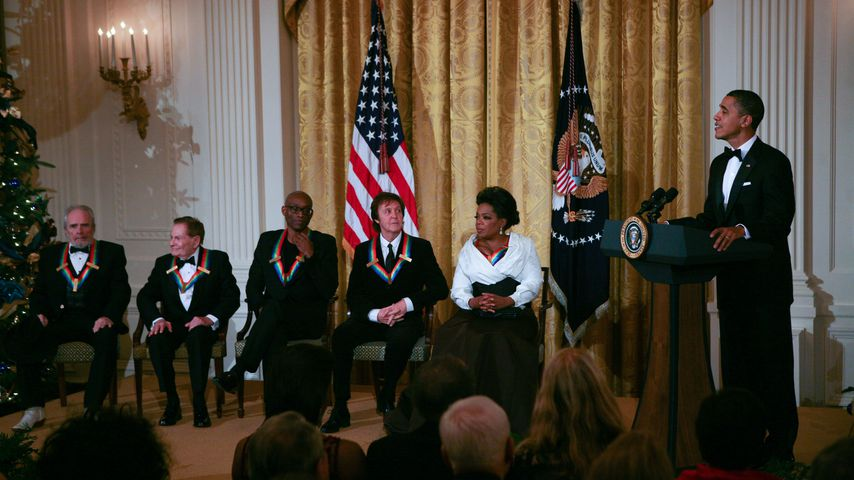 Merle Haggard, Jerry Herman, Bill T. Jones, Paul McCartney, Oprah Winfrey und Barack Obama