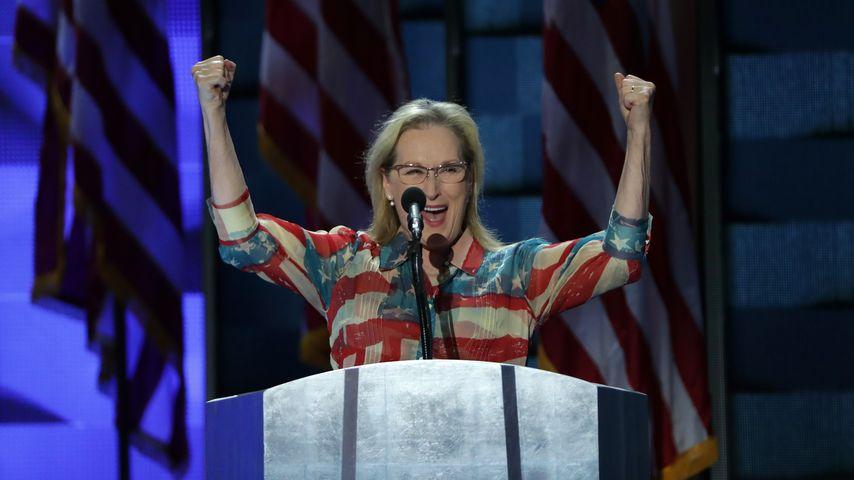 Meryl Streep hält Rede beim Parteitag der Demokraten in Philadelphia