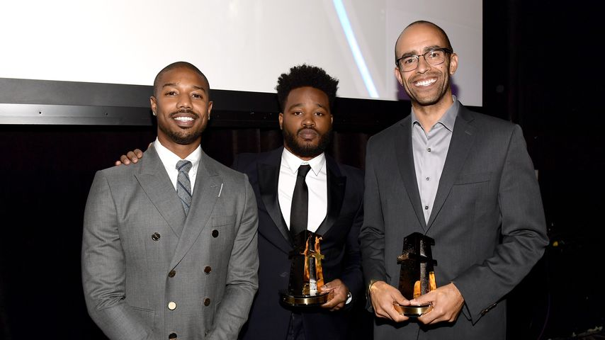 Michael B. Jordan, Ryan Coogler und Nate Moore bei den Hollywood Film Awards