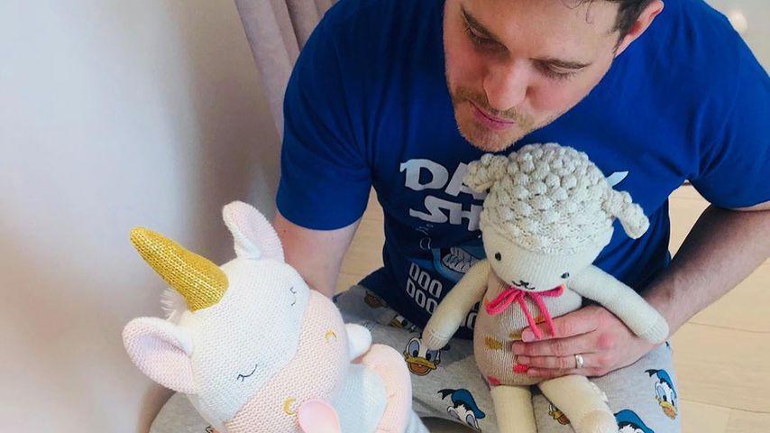 Tee-Stunde: So süß spielt Michael Bublé mit seiner Tochter