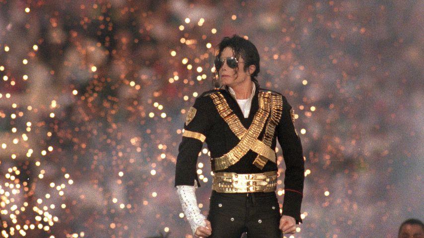 Michael Jackson bei seiner Super-Bowl-Halbzeitshow in Pasadena, 1993