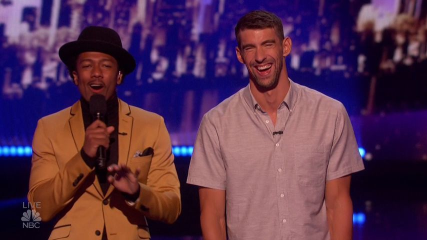 Als Ehrengast: Michael Phelps bei America's Got Talent