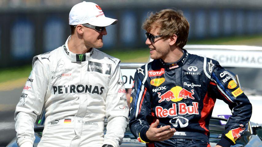 Michael Schumacher und Sebastian Vettel, 2012