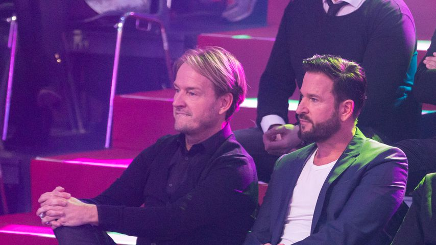 """Michael Wendler (rechts) mit seinem Manager Markus Krampe bei """"Let's Dance"""" 2020"""