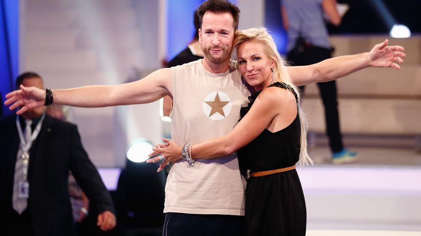 "Michael Wendler und Claudia Norberg beim ""Promi Big Brother""-Finale 2014"