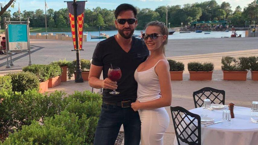 Michael Wendler und Laura Müller im April 2019 in den Universal Studios in Orlando