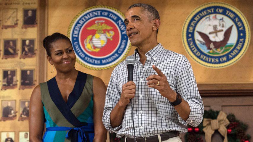 Michelle und Barack Obama bei einem Event in Hawaii im Dezember 2016
