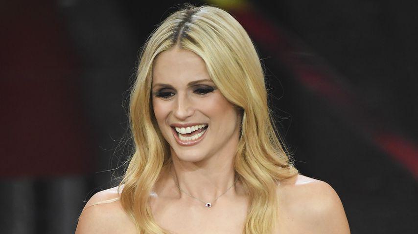 Michelle Hunziker im Februar 2018 in Sanremo