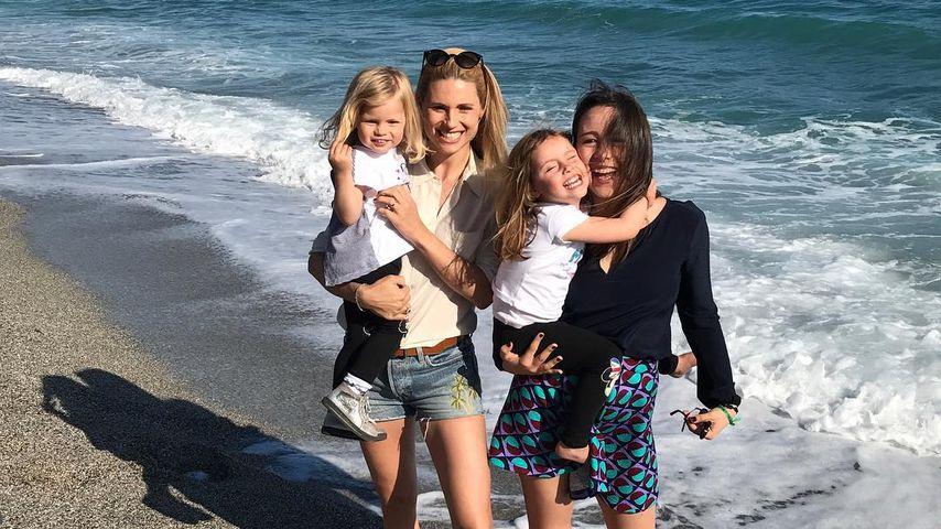 Michelle Hunziker mit ihren Kindern Celeste, Sole und Aurora