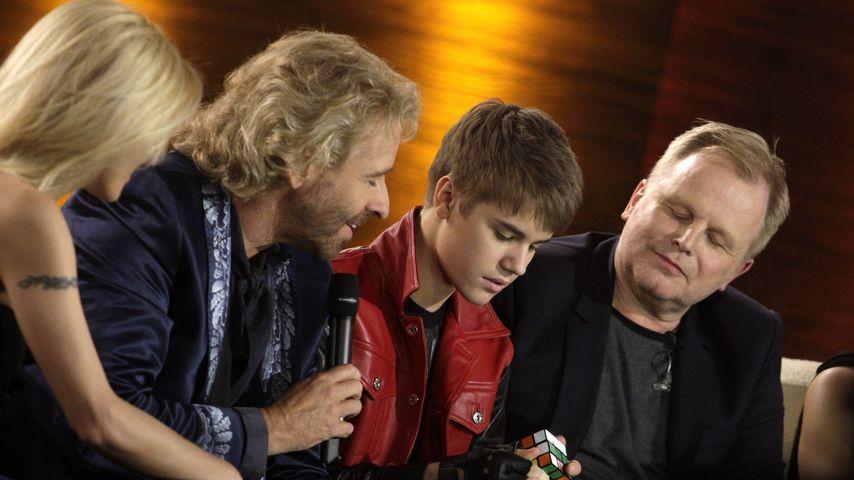 """Michelle Hunziker, Thomas Gottschalk, Justin Bieber und Herbert Grönemeyer bei """"Wetten, dass..?"""""""