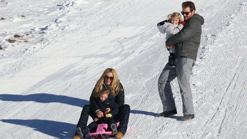 Rasanter Schneespaß: Michelle Hunziker & Family im Urlaub