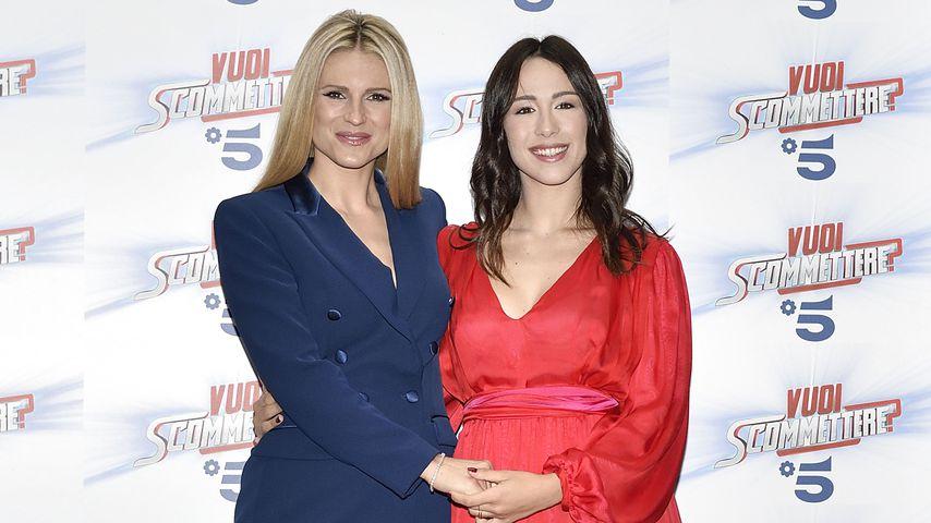 Michelle und Aurora Hunziker in Mailand 2018