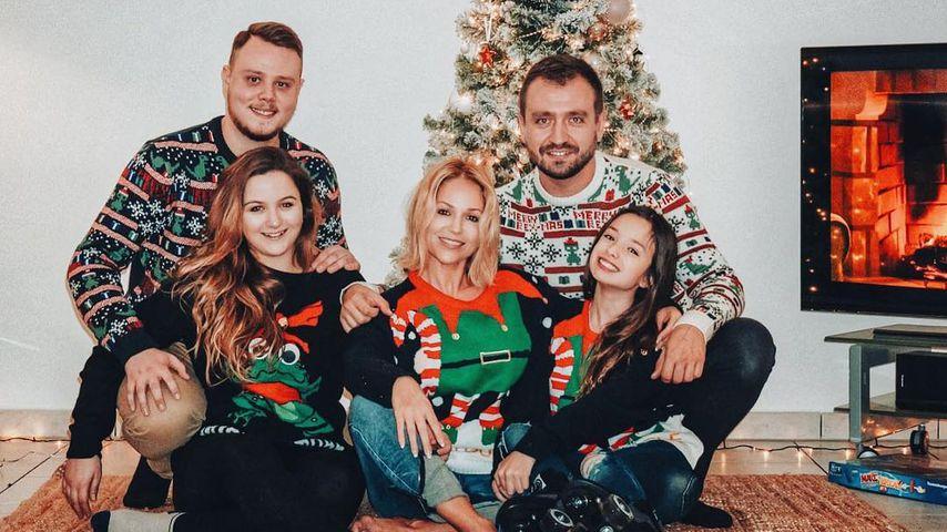 Michelle (m.) und ihre Familie, Weihnachten 2018