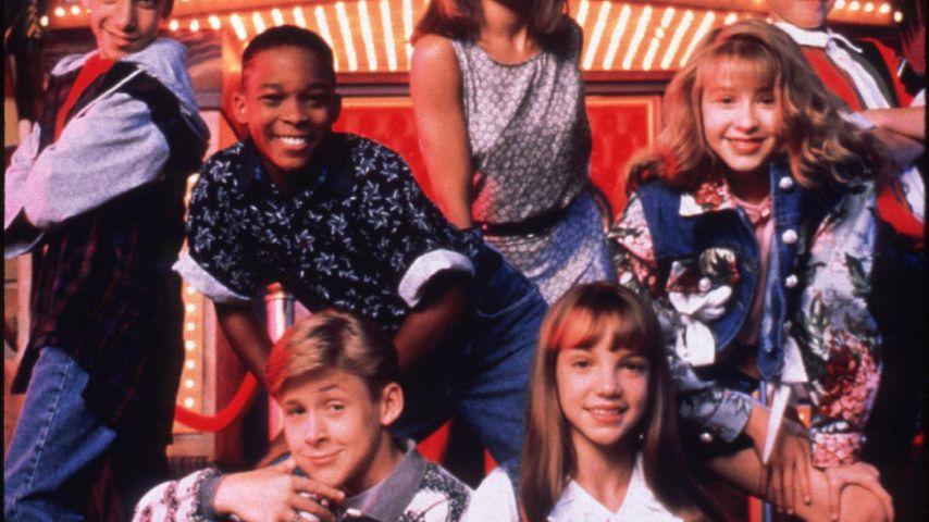 "Ryan Gosling, Britney Spears, Christina Aguilera und Justin Timberlake beim ""Mickey Mouse Club"""