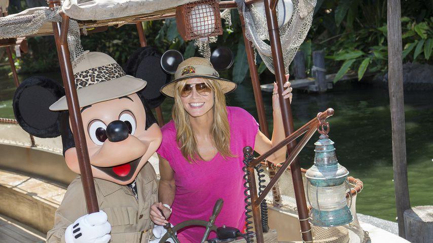 Micky Maus und Heidi Klum, Mai 2014