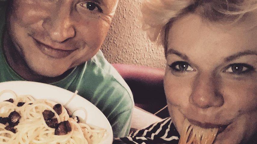Mike Blümer und Melanie Müller wenige Tage vor Geburt