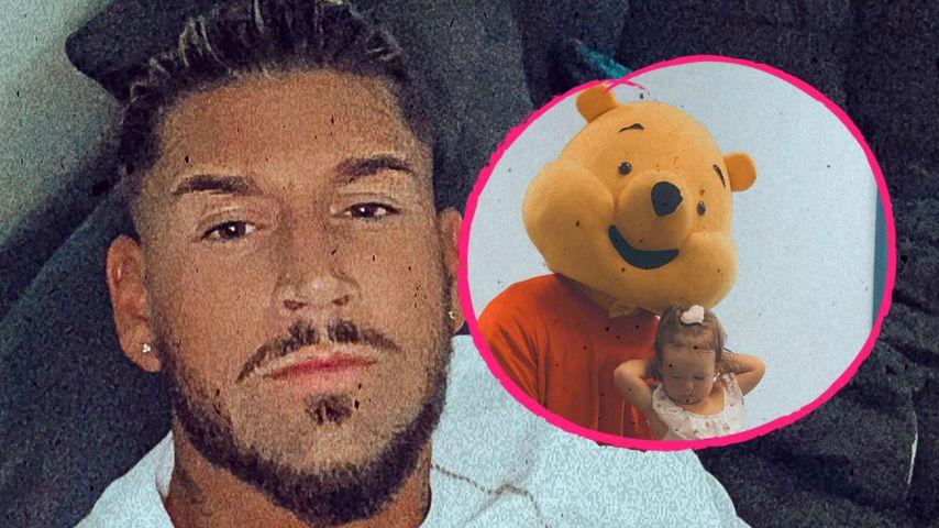 Papa-Liebe: Mike Heiter verkleidet sich für Aylen als Pu-Bär