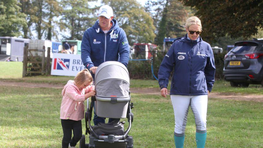 Mit Mann & Töchtern: Zara Phillips erster Familienausflug