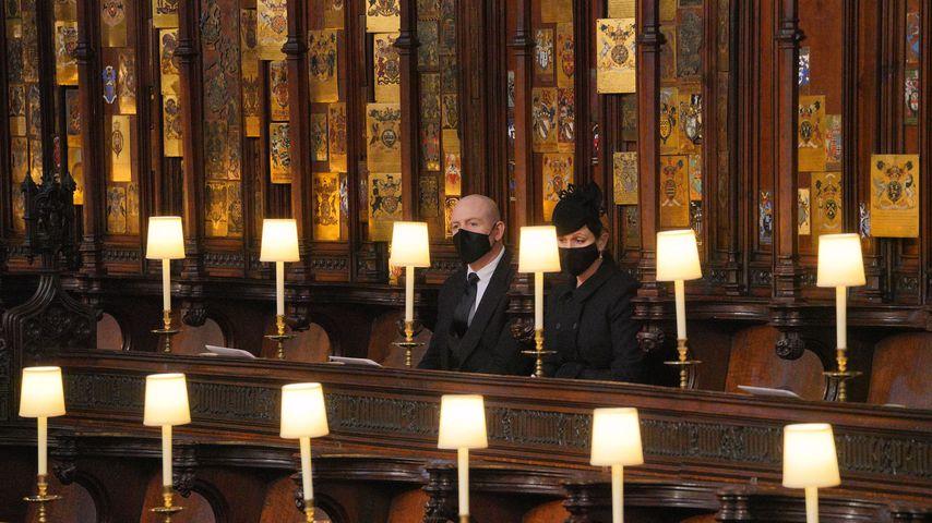 Mike und Zara Tindall bei der Beerdigung von Prinz Philip