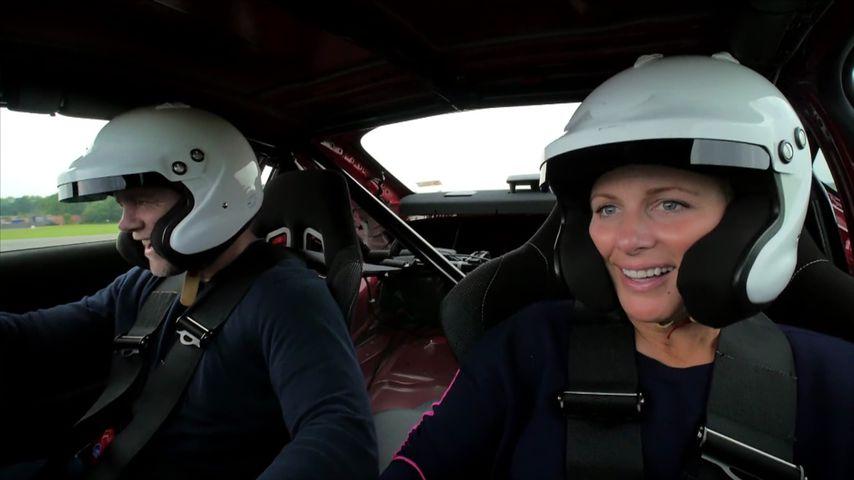 """Mike und Zara Tindall bei """"Top Gear"""""""