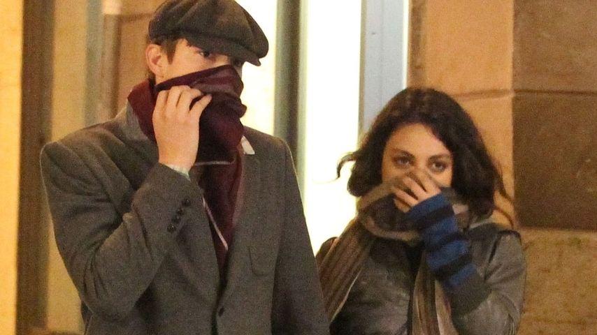 Mila Kunis und Ashton Kutcher: Hand in Hand in Rom