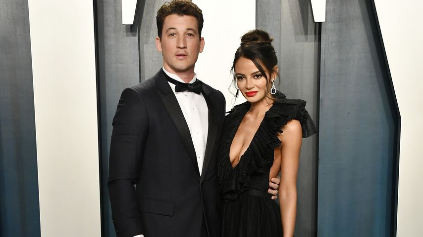 Miles Teller mit seiner Frau Keleigh im Februar 2020 in Kalifornien