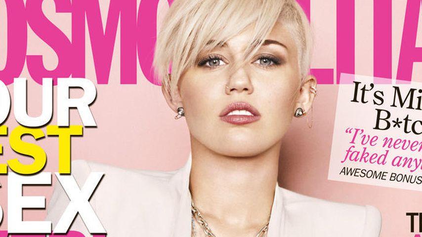 Miley Cyrus: Umwerfend und BH-los auf Cosmo-Cover