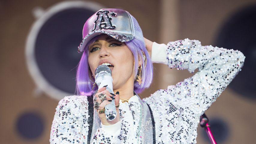 Miley Cyrus im Juni 2019 auf dem Glastonbury Festival in England