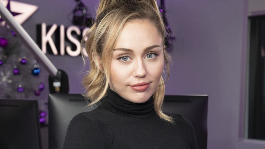 Miley Cyrus beim Radiosender Kiss FM in London