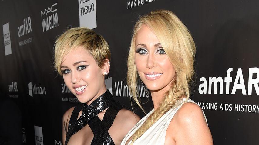 Miley und Tish Cyrus im Oktober 2014