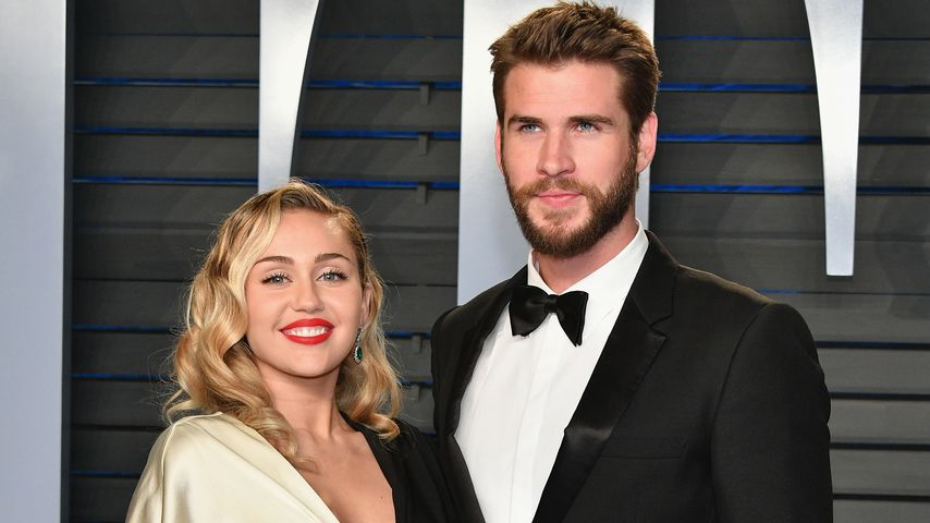 "Miley Cyrus und Liam Hemsworth bei der ""Vanity Fair""-Oscar-Party 2018"