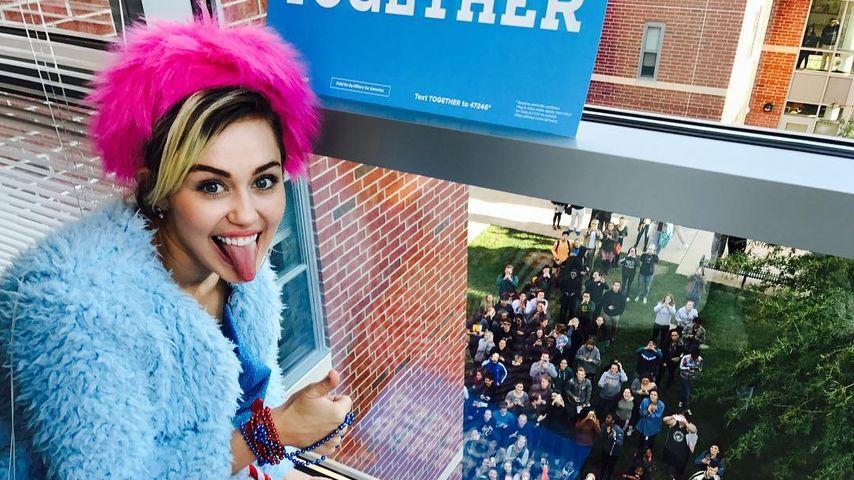Miley Cyrus wirbt für Hillary Clinton