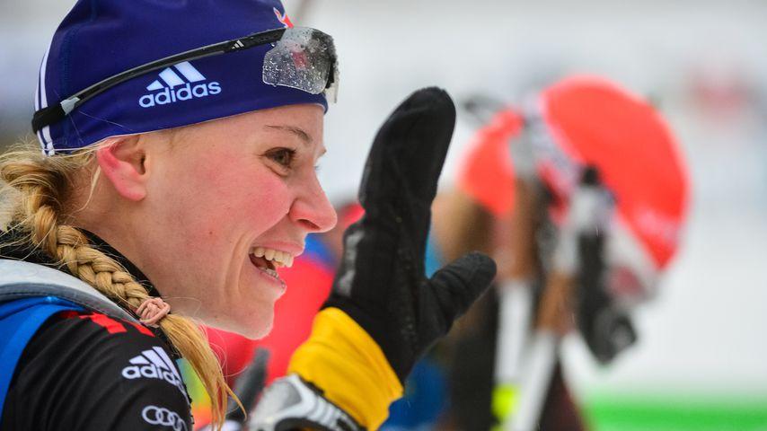 Miriam Neureuther 2012 beim IBU World Cup im Biathlon