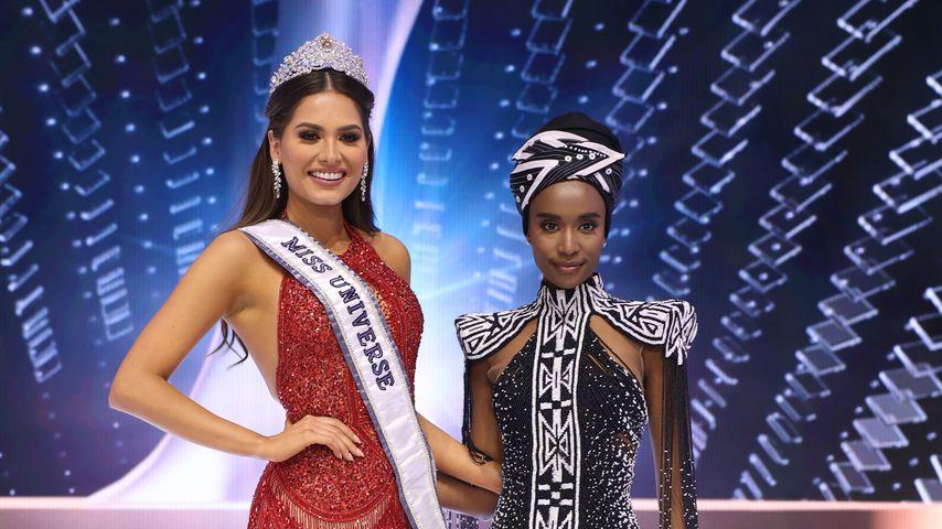 Miss Universe 2021 Andrea Meza und Miss Universe 2019 Zozibini Tunzi
