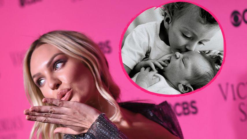 Mit seinem großen Bruder: VS-Engel Candice verrät Baby-Namen