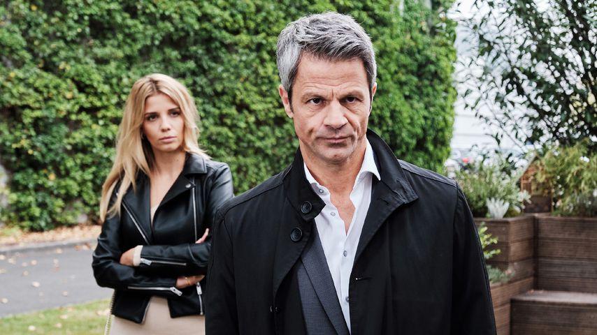 "Monika (Isabel Vollmer) und Benedikt (Jens Hajek) bei ""Unter uns"""