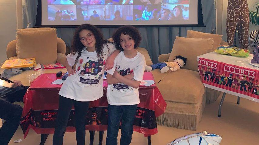 Monroe und Moroccan an ihrem neunten Geburtstag