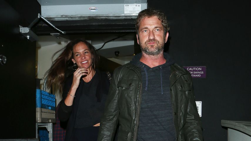 Morgan Brown und Gerard Butler in Hollywood