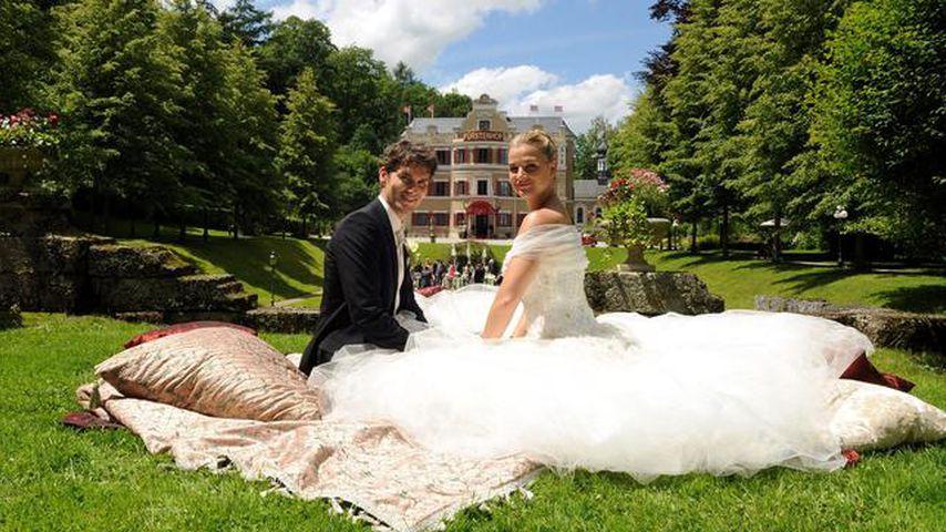 """Moritz (Daniel Fünffrock) und Theresa (Ines Lutz), """"Sturm der Liebe""""-Paar Staffel 7"""
