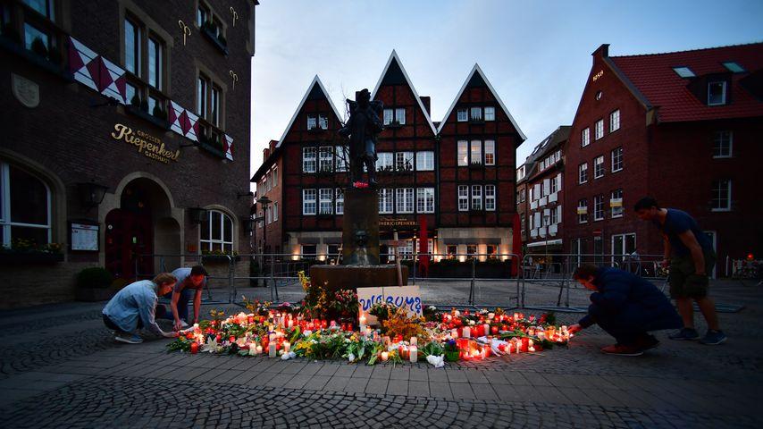 Münster am Tag nach der Amokfahrt des 7. Aprils 2018