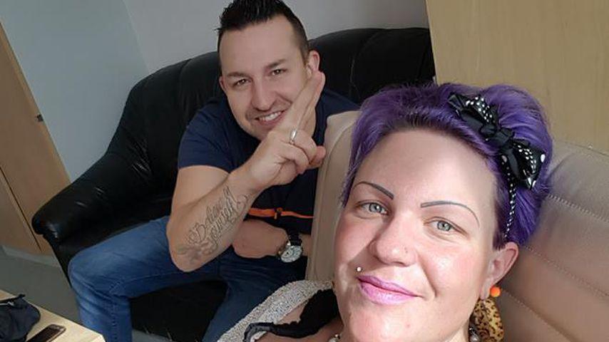 Nadine Zucker mit ihrem Patrick im Krankenhaus