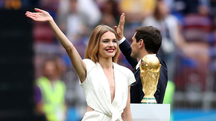 Natalia Vodianova und Iker Casillas bei der WM-Eröffnungsfeier 2018